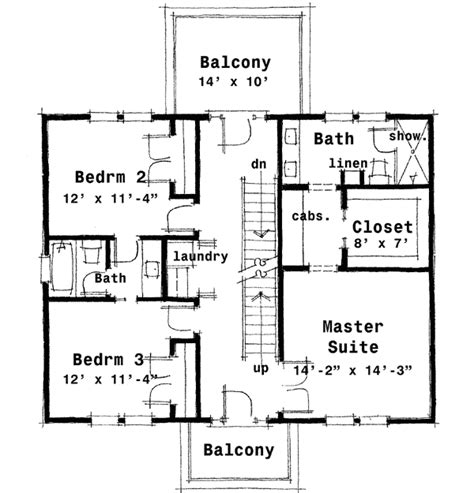 center colonial house plan 44045td 2nd floor
