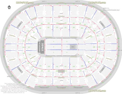 chicago united center detailed seat row numbers end