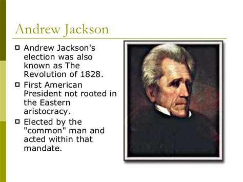 andrew jackson the common man s president common man