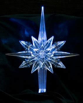 reflections white pulsing led star tree topper
