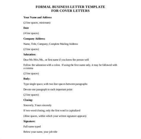 business letter format templates sample