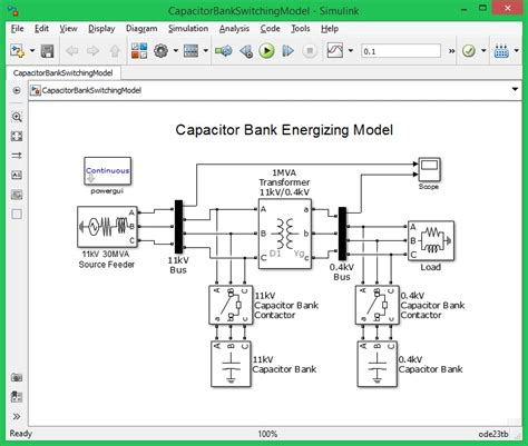 capacitor bank in matlab simulink oscillatory transient caused by capacitor banking energizing file exchange matlab central
