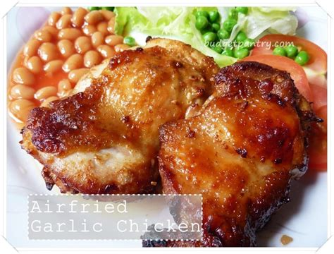 Napa Salad by Airfried Garlic Chicken Chop With Worcestershire Sauce