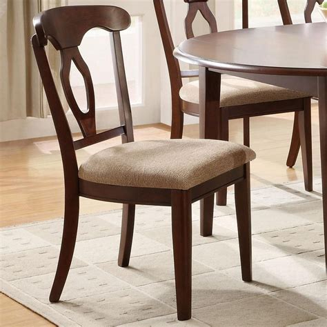 coaster 102992 brown fabric dining chair a sofa
