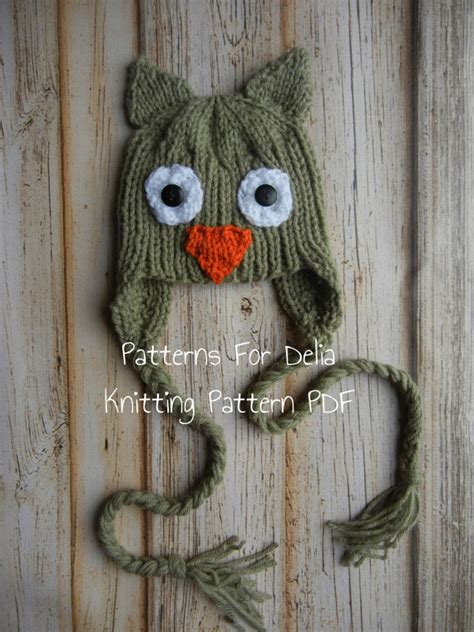 owl baby hat knitting pattern owl hat knitting pattern newborn baby toddler child animal