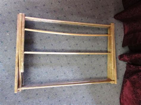 lot detail vintage wooden folding clothes drying rack