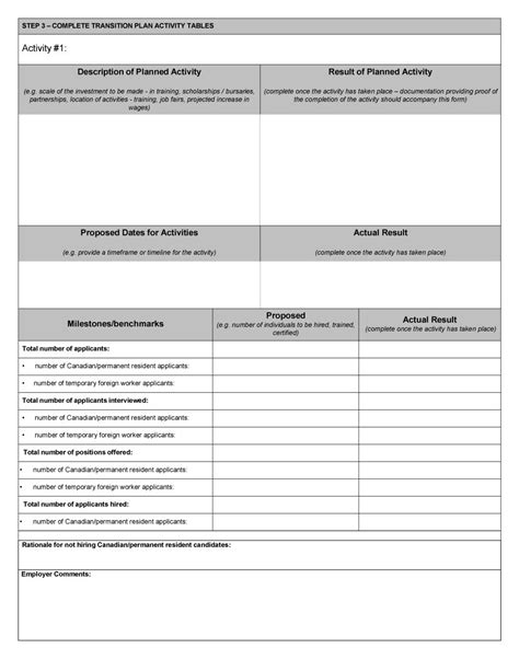 business transition plan template transition plans exles anuvrat info