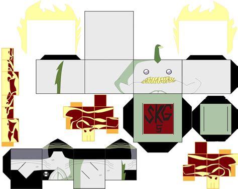 Ben 10 Papercraft - heatjaws by superkamiguru5 on deviantart