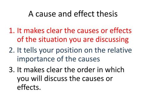 Cause And Effect Essay Thesis by Ppt Cause And Effect Essays Powerpoint Presentation Id 170621