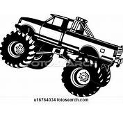 Truck Clipart 4x4  Pencil And In Color
