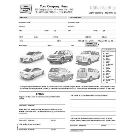 truck condition report template condition report forms automobile forms standard forms