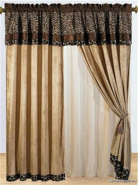 fur curtains 8 pc modern safari zebra giraffe print brown micro fur