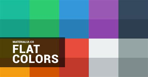 flat color picker flat colors flat ui colors color palette material ui