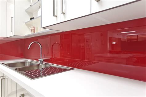 Red Kitchen Backsplash by High Gloss Acrylic Walls Surrounds For Backsplashes Tub