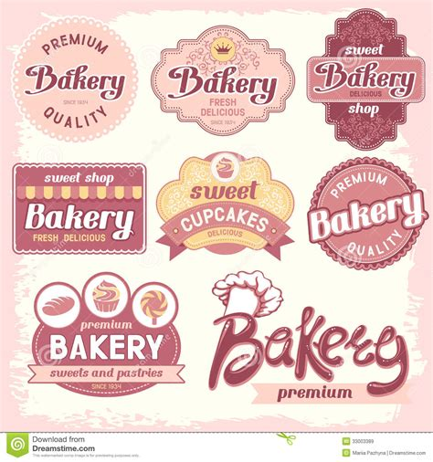 bakery labels royalty free stock images image 33003389