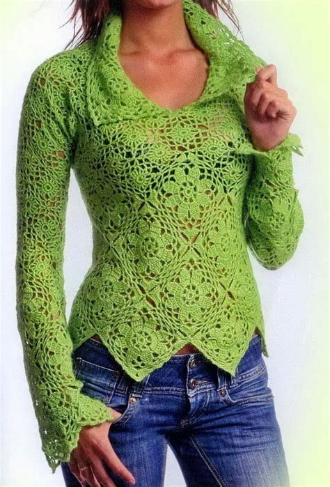 crochet sweater pattern collared crochet sweater pattern crochet kingdom