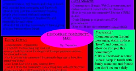 english 101 046 cassandra s discourse community map