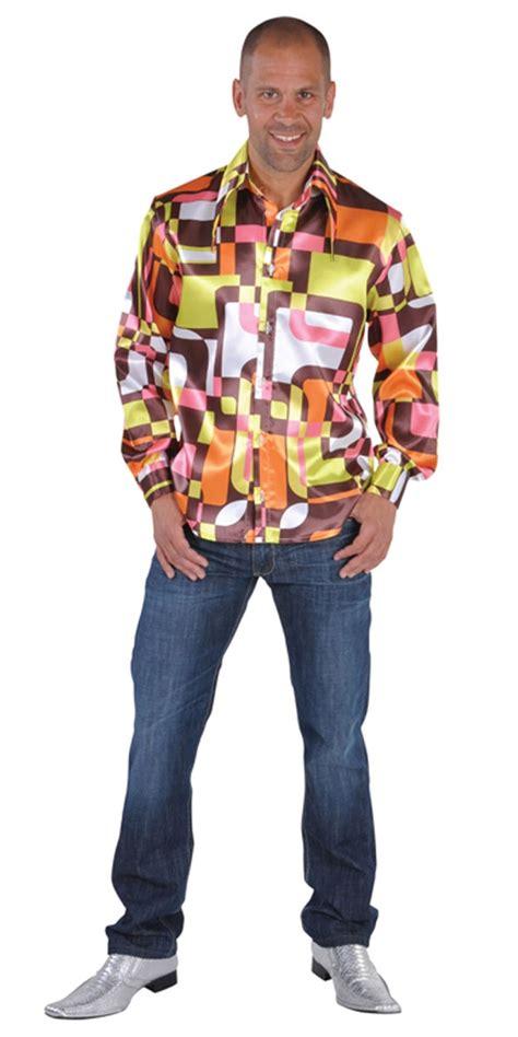 70 s mens frilled retro satin shirt