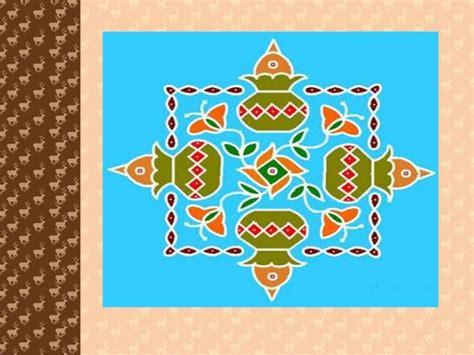 rangoli patterns using geometric shapes rangoli designs for pongal