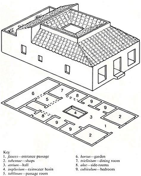 layout of a typical roman house webquest wohnen im alten rom ressourcen
