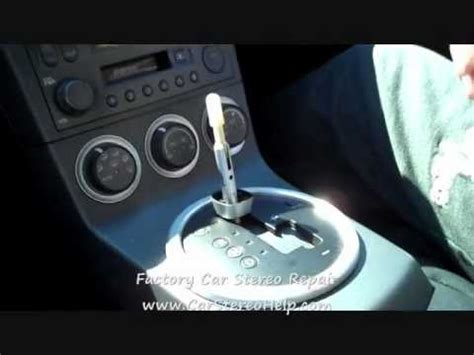 nissan  bose  cd stereo radio removal