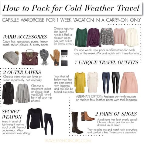 8 Tips To Packing And Travelling Light by This Is A Travel Packing List For A Cold Weather Vacation