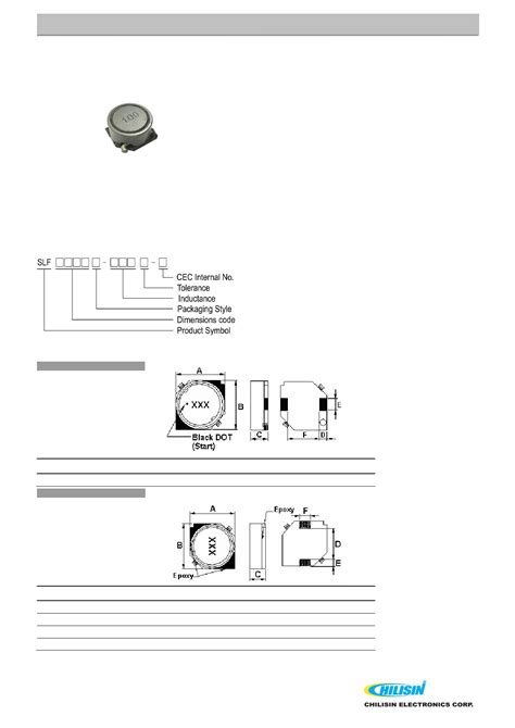 chilisin power inductor slf1045t datasheet pdf pinout smd shielded power inductors