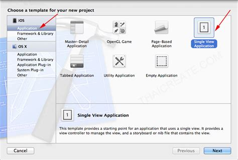 sle xcode iphone projects เร มต นการสร าง project ของ iphone และ ipad บน xcode การ