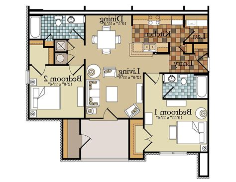 Garage Apartment Floor Plans 2 Bedrooms by Apartments Floor Plans Pricing For Apartments 2