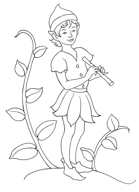 coloring pages girl elves coloring page boy elf musician