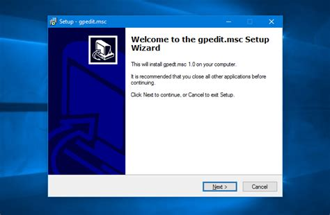 install windows 10 home how to enable gpedit msc group policy editor in windows 10