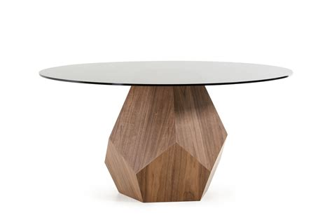 modern walnut dining table modrest rackham modern walnut dining table