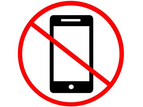 not mobile no mobile phone clipart www pixshark images