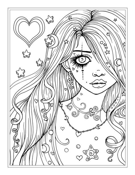 coloring pages for adults girl 25 best molly harrison free coloring pages direct from