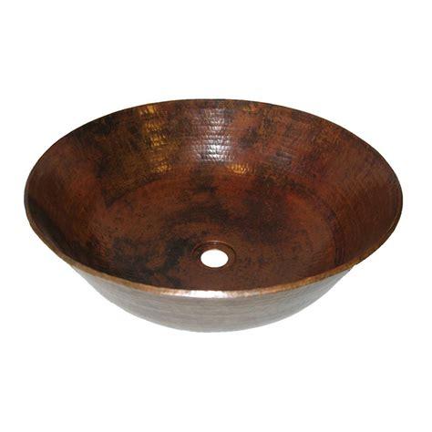 copper vessel bathroom sink shop novatto catalonia copper vessel round bathroom sink