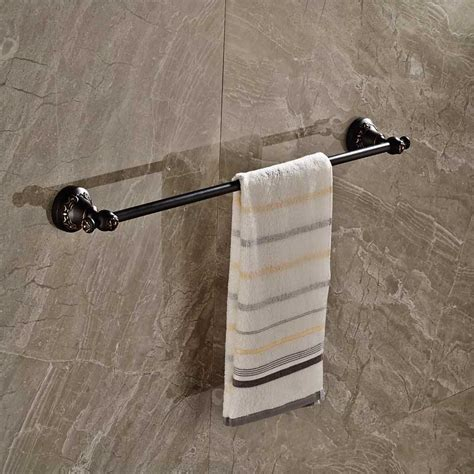 black bathroom towel bar black finish single towel bar wall mounted bathroom towel