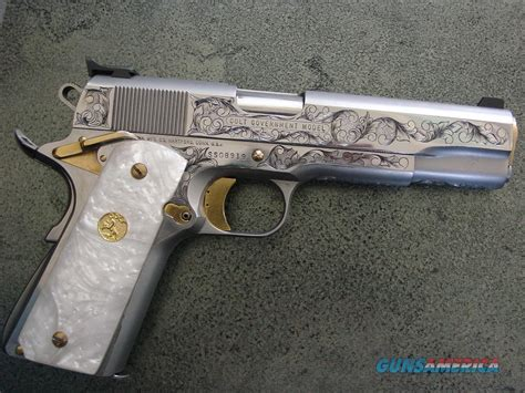 colt 1911 series 80 45acp master engraved by ke for sale