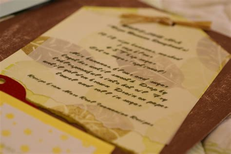 Handmade Card Blogs - 8 tips for recipe scrapbook pages the cardmaking
