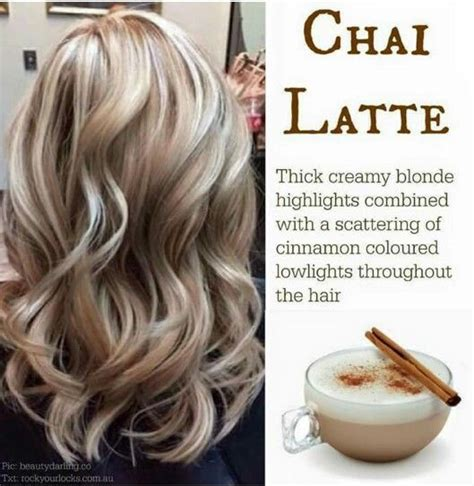 choosing a shade of blonde hair color nice looking chai latte creamy blonde highlights with cinnamon
