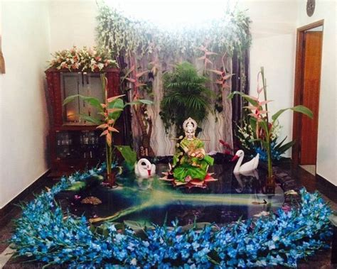 saraswati puja pooja room and rangoli designs