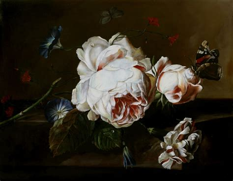 quadri fiamminghi fiori la tavola fiamminga natura morta con fiori su piano di marmo