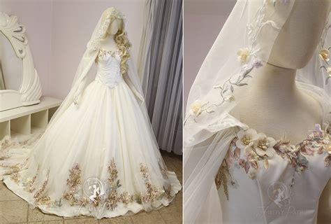 Princess Dress By Princess Dress floral princess bridal gown and cape by firefly path on