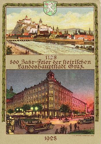 Postkarten Drucken Graz by Postkarte Mit Zwei Motiven Graz Historische Bilder