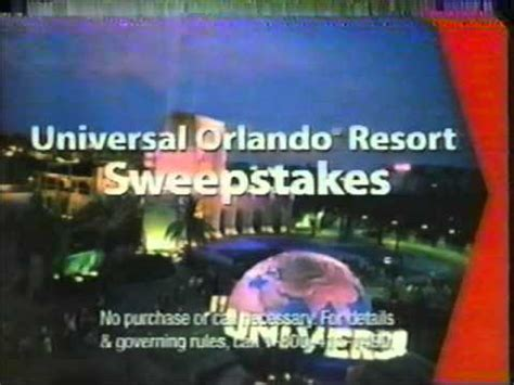 Universal Studios Sweepstakes - universal studios verizon sweepstakes 2003 youtube