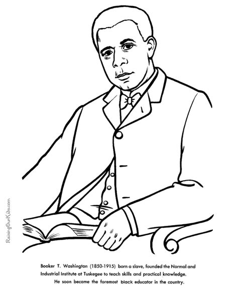 coloring pages booker t washington booker t washington american history coloring page for