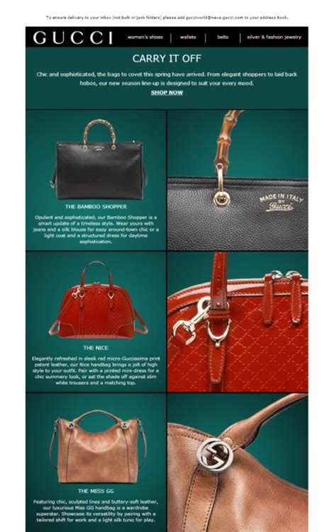 Gucci Launches Gucci Now An Email Newsletter gucci beautiful email newsletters