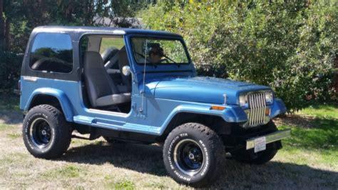 Jeep Hardtop Paint 1988 Jeep Wrangler 4cyl 5spd 3 Quot Lift Top W
