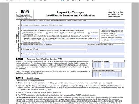 Printable W 9 Form