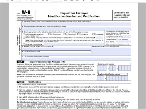How to Complete a W9 Tax Form » VripMaster W 9 Form Fillable Printable 2016