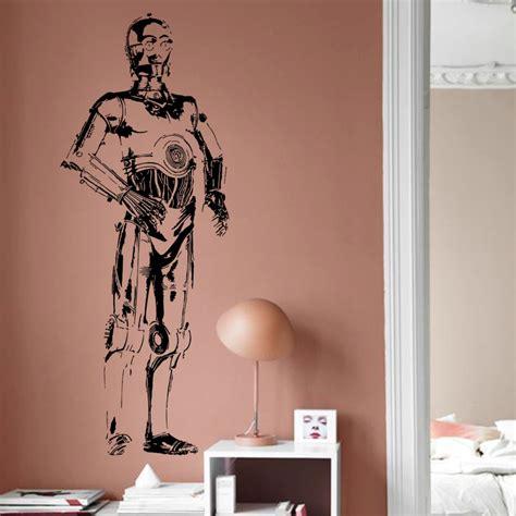 removable wall murals for cheap peenmedia com art design cheap home decoration vinyl star war film c3po